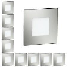 LED Treppen-Licht Treppenbeleuchtung, eckig, 8x8cm, 230V, weiß, 10 Stk.