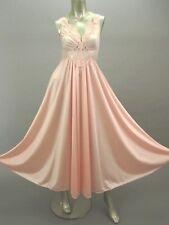 Vintage Pink 2 Piece Set OLGA Negligee M Nightgown Shadowline Peignoir L Robe