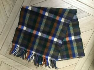 SCOTTISH WEAVERS, MULTICOLOURED CHECKED SCARF, 100% WOOL