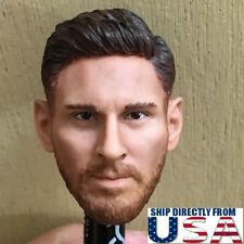"1/6 Lionel Messi Head Sculpt Barcelona Soccer For 12"" HotToys PHICEN Male Figure"