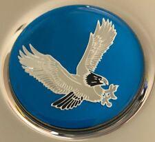 "4 New Blue Center Cap Wheel Rim Emblems Logo Decals 50mm or 2"" Eagle Bird"