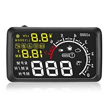 "X3 5.5"" Car HUD Head Up Display Bluetooth Engine Speed Warning Alarm With ELM327"