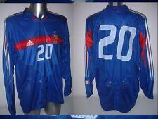 France Adult XL Matchworn Shirt Jersey Player Soccer Trikot Adidas Trezeguet