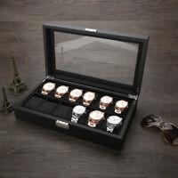 Uhr Aufbewahrungsbox für 12 Uhren Uhrenaufbewahrung Home Uhrenbox Uhrenkasten