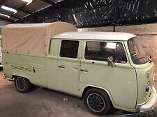 Heavy Duty waterproof cotton Canvas VW T2 Bay window Double Cab 1968-1979 C9653