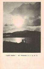 "St.Thomas,U.S.Virgin Islands,""Lady Moon,"",Moon Rise Scene,Caribbean,c.1915"