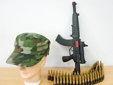 Camouflage Army Military Soldier Hat Cap Bullet Belt and Costume Accessories AC
