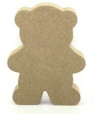 Non associate Teddy Bear 18mm MDF CNC taglio Artigianato Vuoto Forma 15cm ad alta