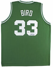 Celtics Larry Bird Authentic Signed Green Jersey Autographed BAS Witnessed