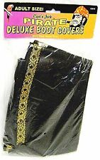 Capt'n Jack PIRATE DELUXE BOOT COVERS Gold Trim Halloween Costume Pirates New I