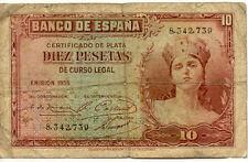 ESPAGNE SPAIN ESPANA 10 Pts 1935 état voir scan 739
