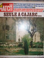 PARIS MATCH 1302 (04/74)mme Pompidou Carjac,elections