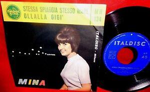 MINA Stessa spiaggia stesso mare 7' + PS 1963 ITALY MINT- Originale PERFETTO