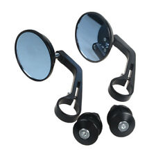 2× Motorcycle Rear View Mirrors 7/8'' 22mm Cycle Handlebar End Side Universal