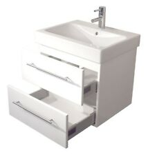 KERAMAG Waschtisch Waschbecken Badmöbel Unterschrank Icon B: 60cm weiß Hochglanz