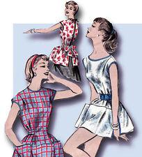 1950s Original Vintage Advance Pattern 7878 Uncut Misses Cobbler Apron Size MED