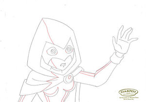 Teen Titans Animated Series Original Production Drawing-Raven
