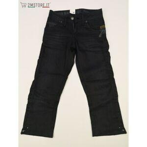 G-STAR Bermuda Jeans GSTAR JACK ZIP SKINNY CROPPED WOMAN GS3301 Nero RAW DENIM