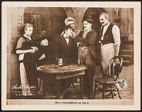 "Poster A Dog's Life 1918 Lobby Card 11""x14"" VF 8.0 Charles (Charlie) Chaplin"