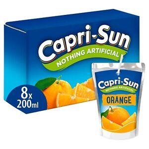 Capri Sun Orange Juice Nothing Artificial 200ml 8 Pack