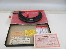 """STARRETT No. 436 OUTSIDE MICROMETER IN ORIGINAL BOX 4"""" - 5"""""""