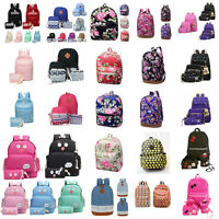 Women's Backpack School Book Bags Satchel Shoulder Rucksack Canvas Travel Bag #H