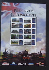 GB Preserved Locomotives Smiler Sheet limited edition train railway bluebell