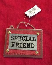 Ganz Special Friend Rustic Christmas Ornament Metal & Wood New
