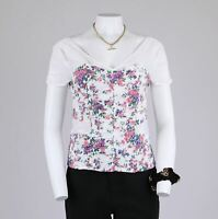 Limited Edition Romantic Ditsy Rose Floral Prairie Gathered Corset Top 12
