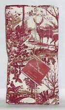 POTTERY BARN Alpine Toile Napkins, SET OF 4, Reindeer/Stag/Deer, NEW-3 AVAILABLE