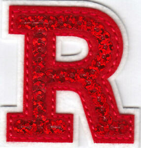 """Letters Red Sequin  2"""" Letter R Iron On Patch"""