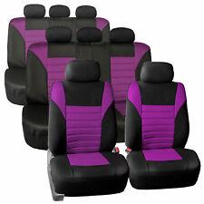 3 Row 8 Seaters Seat Covers For SUV Van 3D Mesh Purple Black Full Set