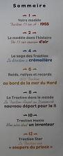 FASCICULE 13  CITROEN SAGA TRACTION 15 SIX H DE 1955