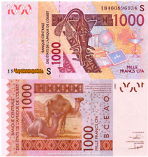 WEST AFRICAN STATES, GUINEA (GUINÉ) BISSAU,1000, 2018, Code S, P-New, UNC