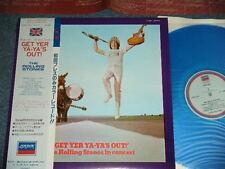 ROLLING STONES Japan 1981 Blue Wax Vinyl LP+Obi GET YER YAYA'S OUT UK Version