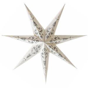 IKEA STRALA Stern Hängeleuchte in weiß / grau Lampe Weihnachtsstern 100cm