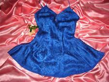 Usa Small VinTage Victoria's Secret Blue Silk Nightgown Negligee
