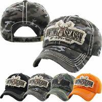 Hunting Season Big Buck Deer Eat Sleep Hunt Fish Distressed Baseball Cap Hat