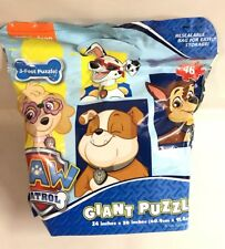 Nick Jr Paw Patrol Giant Puzzle Bag Chase Skye Game Activity Toy New
