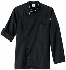 Five Star Adult Unisex Long Sleeve Stretch Snap Tab Executive Chef Coat. 18535
