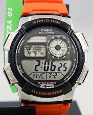 Reloj Nuevo Casio AE-1000W-4B Mapa Digital 10 Años Batería 5 Alarmas mundial