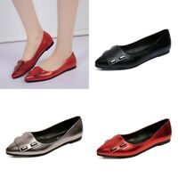 Women Loafers Pumps Flat Pointed Toe Casual Ballet Flats Pointy Toe Shoes Size 8