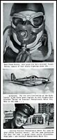 1941 Airacobra Bell Aircraft Sinclair motor oil Vintage photo Print Ad  (ADL4)