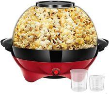 Popcorn Machine 6 Qt 24 Cup Fast Heat Up Popcorn Popper Machine Nonstick