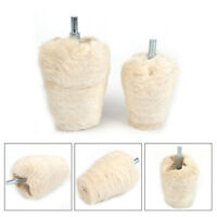 2Pcs Flannelette Taper Polishing Wheel Cloth Buffing Abrasive Tool For 6mm Shank