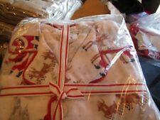 Pottery Barn Kids Heritage Santa Christmas Adult pajamas size flannel small