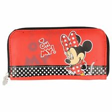"Disney Minnie Mouse Red Zipped Purse - ""Oh My!"" design - NEW"