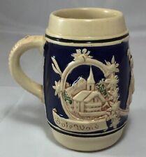 German Glazed Beer Stein Mug Vintage