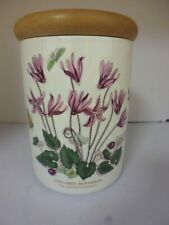 Portmeirion Canister with wooden lid Ivy leaved cyclamen (TR)