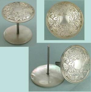 Antique Sterling Silver & Mother of Pearl Thread Spool * English * Circa 1850